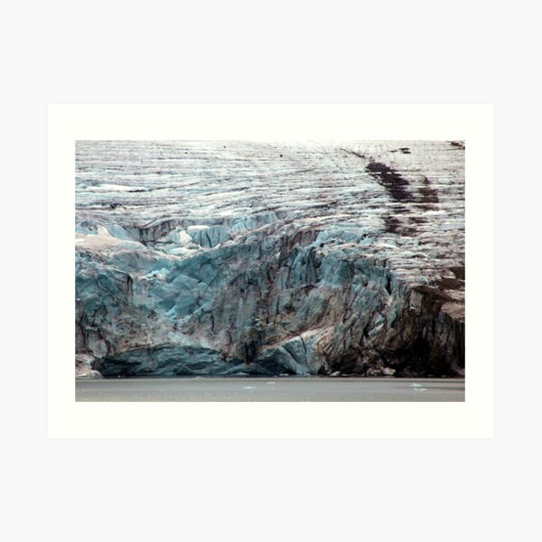 Brepollen Glacier close up Art Print
