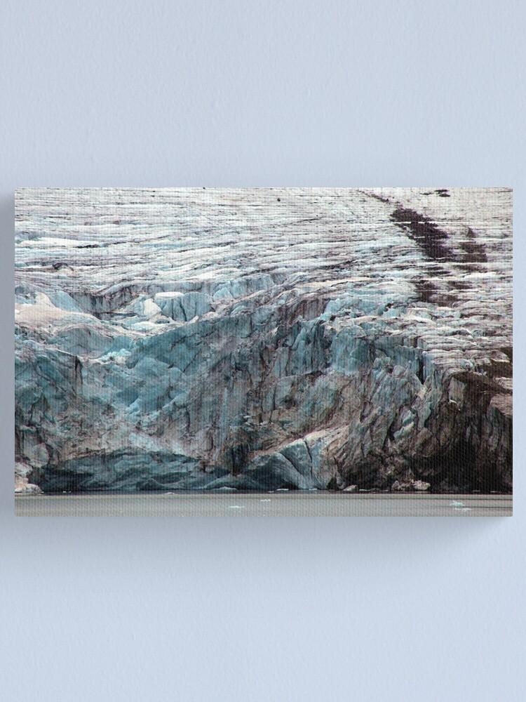 Alternate view of Brepollen Glacier close up Canvas Print
