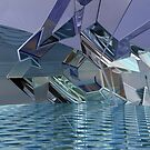 Reflections In Blue VIII by Hugh Fathers