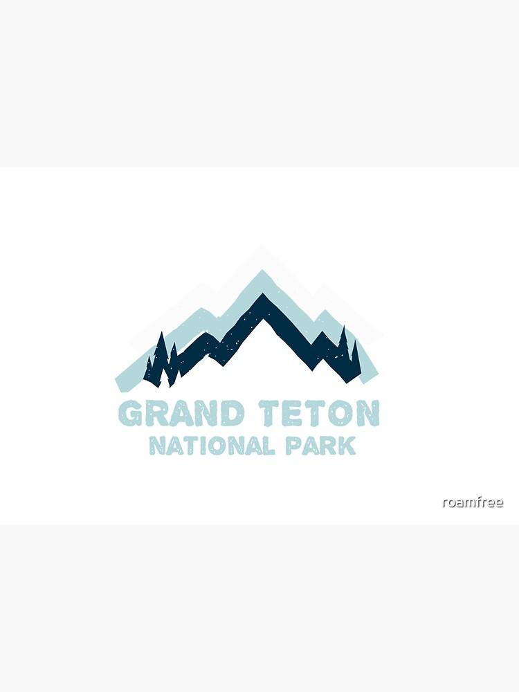 Grand Teton National Park Retro Mountain Sticker by roamfree