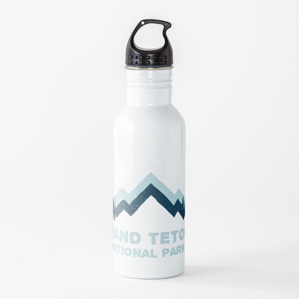 Grand Teton National Park Retro Mountain Sticker Water Bottle