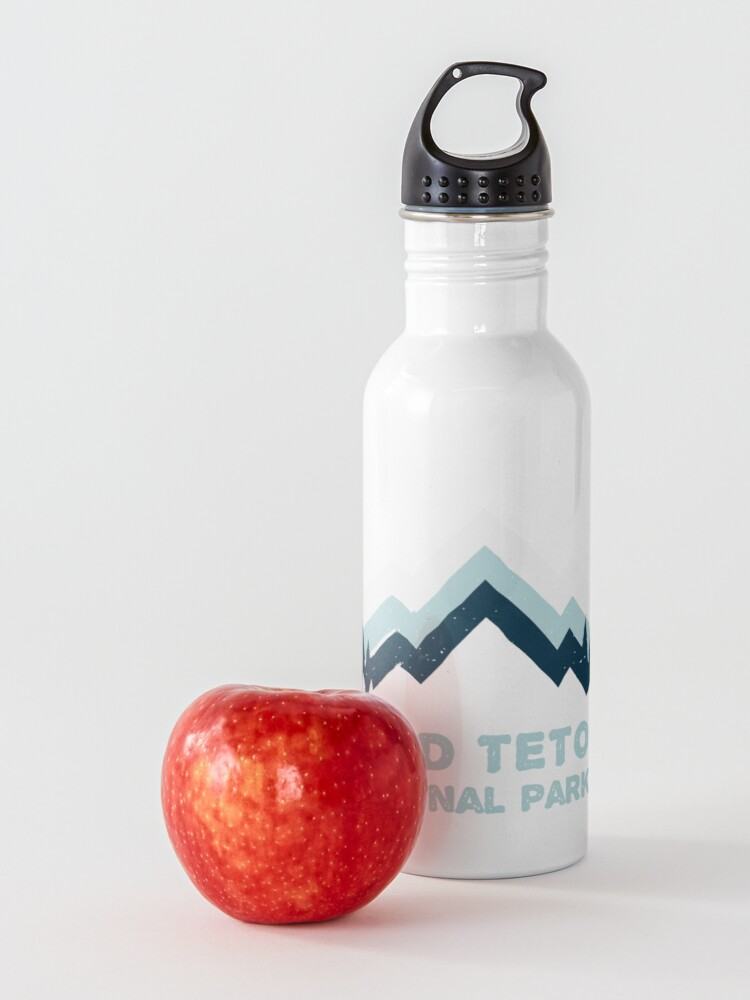 Alternate view of Grand Teton National Park Retro Mountain Sticker Water Bottle