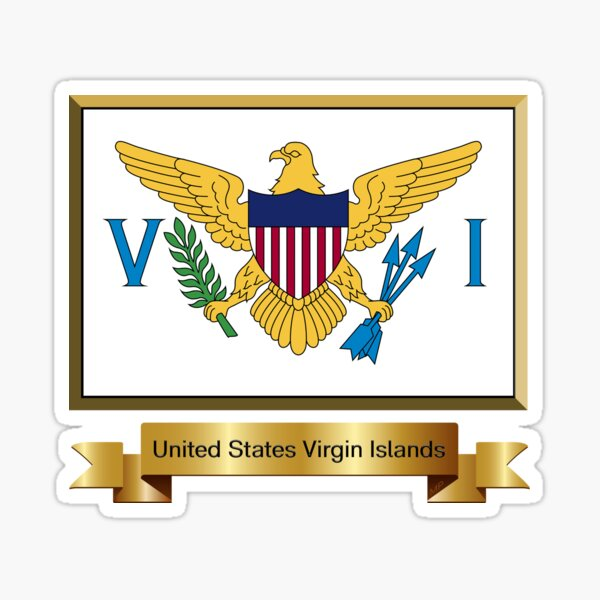 NEW VIRGIN ISLANDS PRISMATIC REFLECTIVE FLAG STICKER DECAL FREE SHIPPING