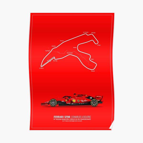Charles Leclerc | GP de Belgique 2019 Poster