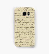 Hand written love poem Samsung Galaxy Case/Skin