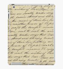 Hand written love poem iPad Case/Skin