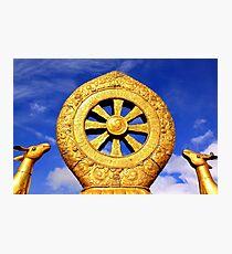Dharma Wheel in Jokhang Temple Photographic Print