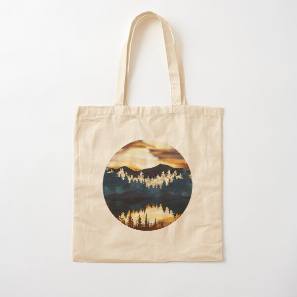 Fall Sunset Cotton Tote Bag