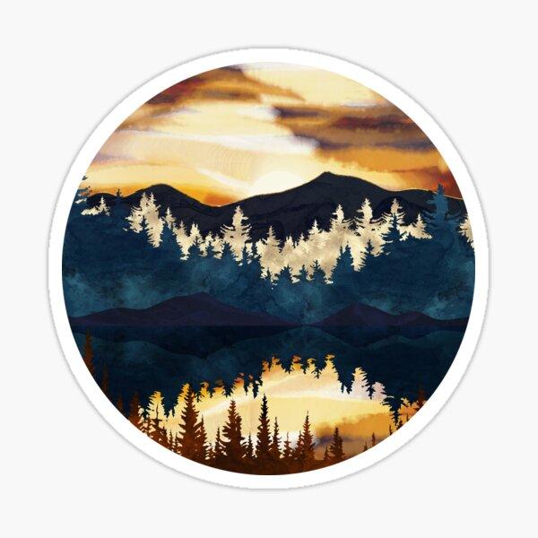 Fall Sunset Sticker