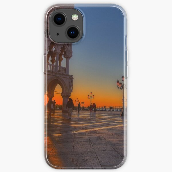 Doge Palace and Piazza San Marco at sunrise in Venice, Italy. iPhone Soft Case