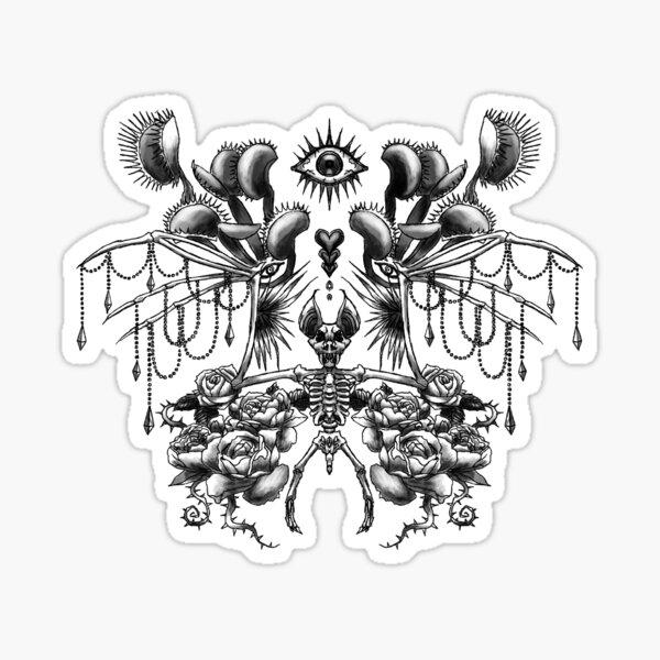 "Covens ""Halloween Bat"" Tattoo Design Sticker"