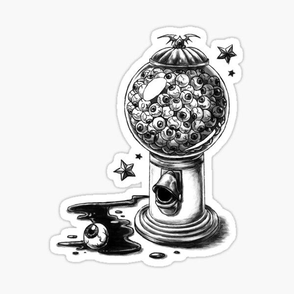 "Covens ""Gumball Machine"" Tattoo Design Sticker"