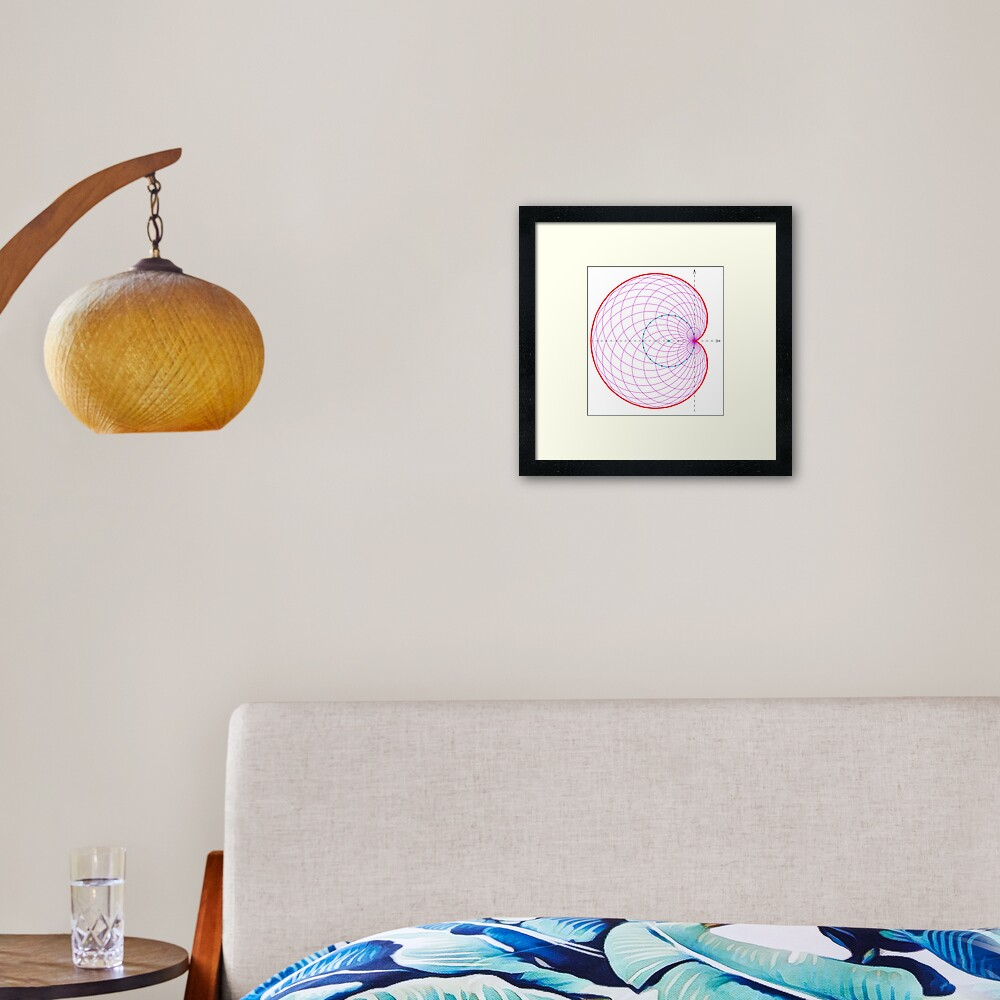 Cardioid as envelope of a pencil of circles Framed Art Print