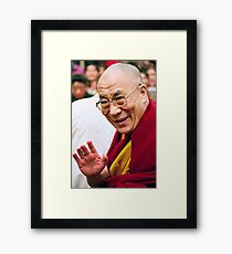 His Holiness the Dalai Lama. northern india Framed Print
