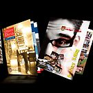 Various Magazine designs for Exeter University by Michelle Lovegrove