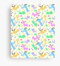 Dogs & Cats  Phone Case Canvas Print