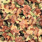 Autumn flower pattern, flowers, flower pattern, retro by fuzzyfox