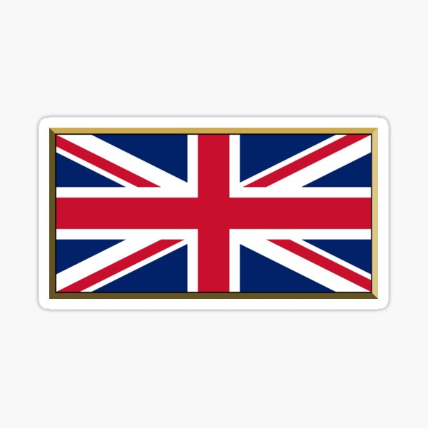 United Kingdom Flag Stickers, Gifts and Products Sticker