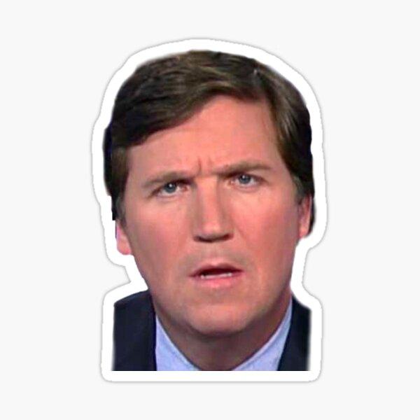 Tucker Carlson's Bruh Face Sticker