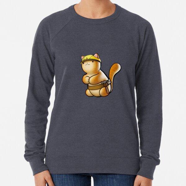 Geology Cat - cutout Lightweight Sweatshirt