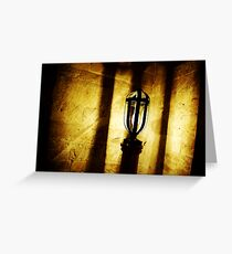 Canons Ashby Church Light Greeting Card