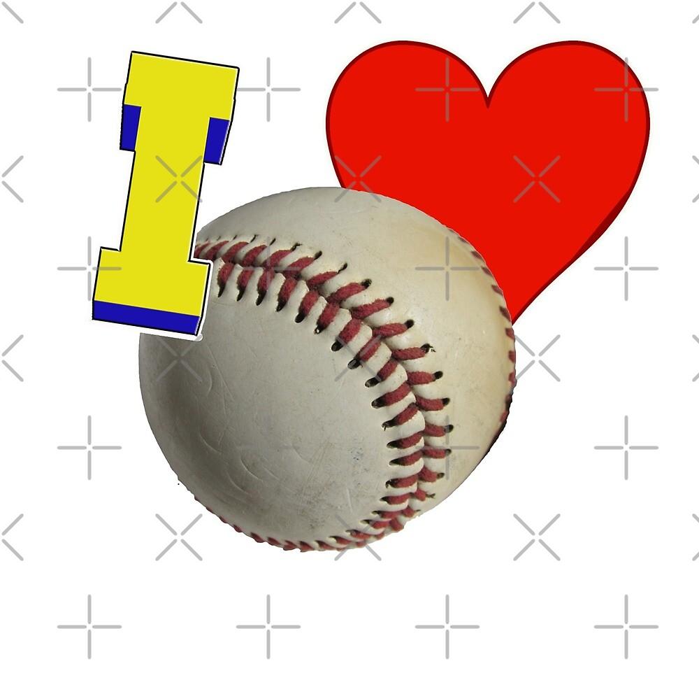 I Love Baseball by Buckwhite