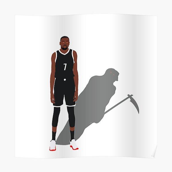 Kevin Durant Slim Reaper Brooklyn Nets  Poster