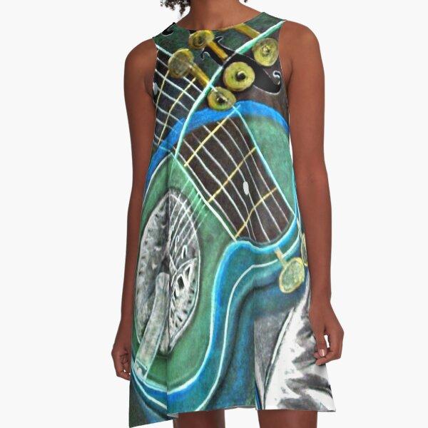 Bluegreen Dobro A-Line Dress