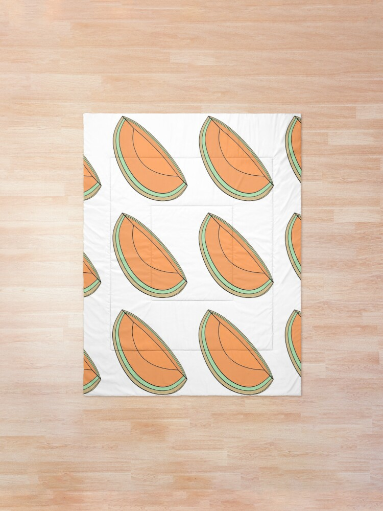 Cantaloupe Slice Comforter By Ashleymorrisart Redbubble These fruits are packed in vacuum packages eliminating oxygen, which in turn. cantaloupe slice comforter by ashleymorrisart redbubble