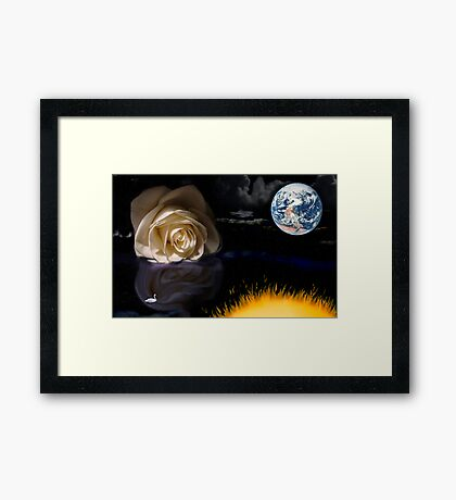a time for reflection Framed Print