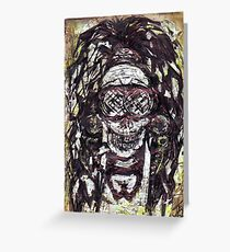 Goggle Skull Greeting Card