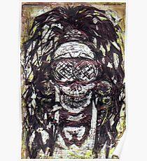 Goggle Skull Poster