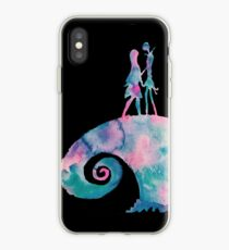 Watercolor Nightmare (black) iPhone Case