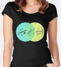 Keytar Platypus Venn Diagram Women's Fitted Scoop T-Shirt