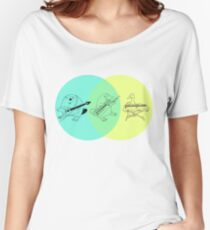 Keytar Platypus Venn Diagram Women's Relaxed Fit T-Shirt