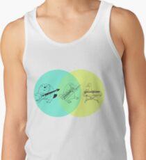 Camisetas de tirantes para hombre Keytar ornitorrinco Diagrama de Venn
