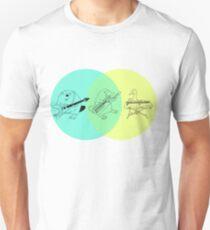 Camiseta unisex Keytar ornitorrinco Diagrama de Venn