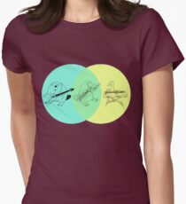 Keytar Platypus Venn Diagram Womens Fitted T-Shirt