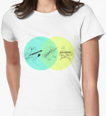 Keytar Platypus Venn Diagram Women's Fitted T-Shirt