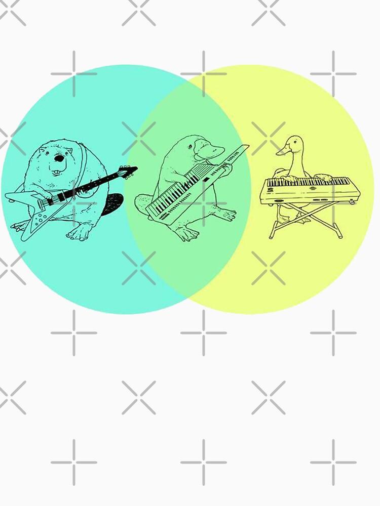 Keytar Platypus Venn Diagram | Unisex T-Shirt