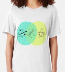 Keytar Platypus Venn Diagram Slim Fit T-Shirt