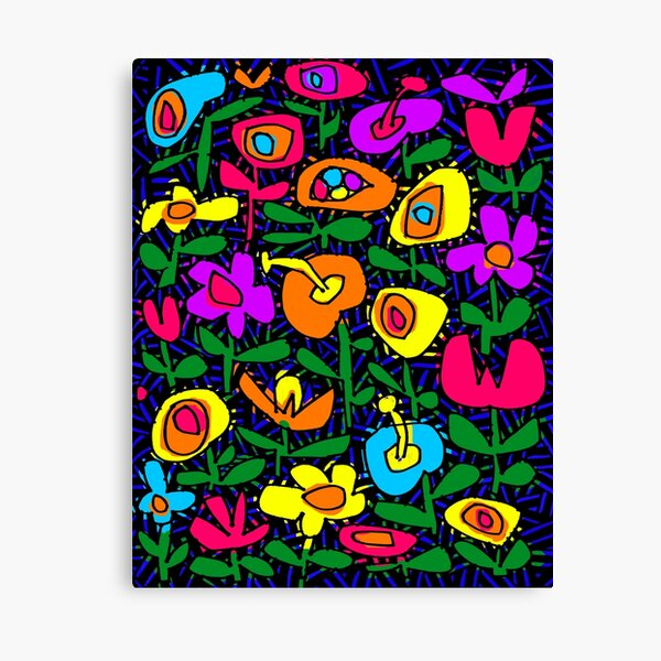 Flowerland # 1 Impression sur toile