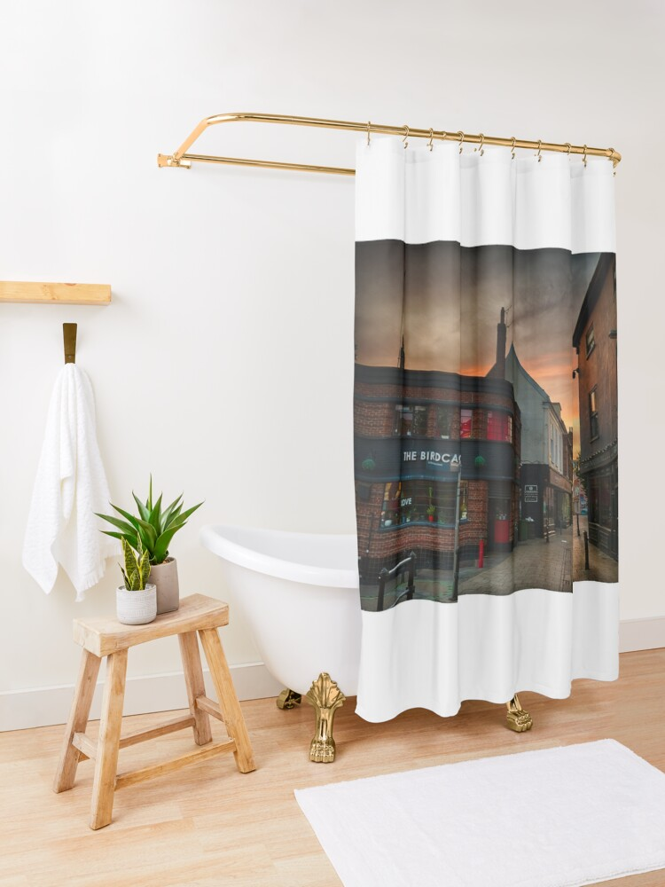 Alternate view of Pottergate at Dawn Shower Curtain