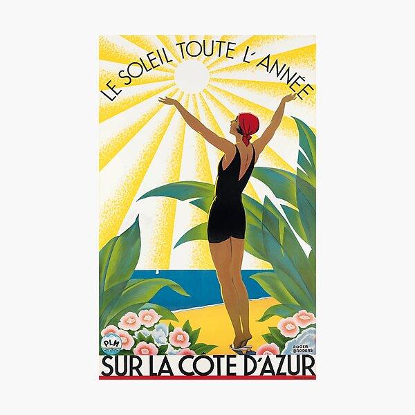 1931 Sur La Cote D'Azur France Travel Poster Photographic Print