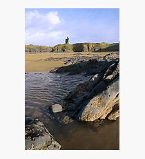 ballybunion castle on rocky cliff Photographic Print