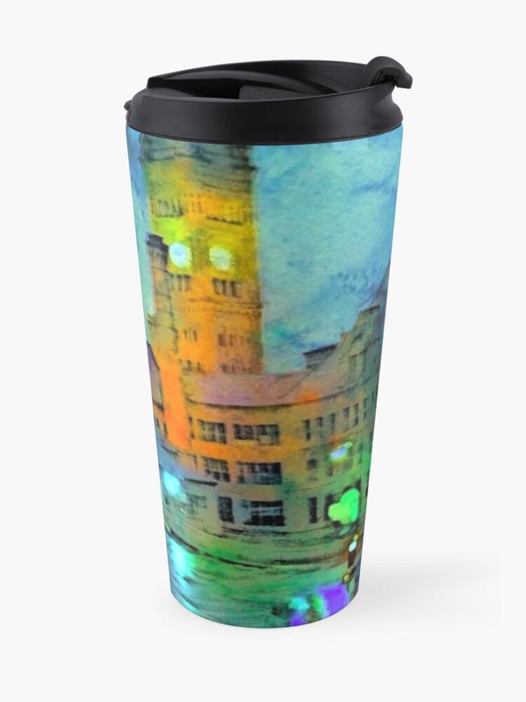 Alternate view of Clock Tower in Rain Travel Mug