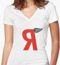 Regressive Women's Fitted V-Neck T-Shirt