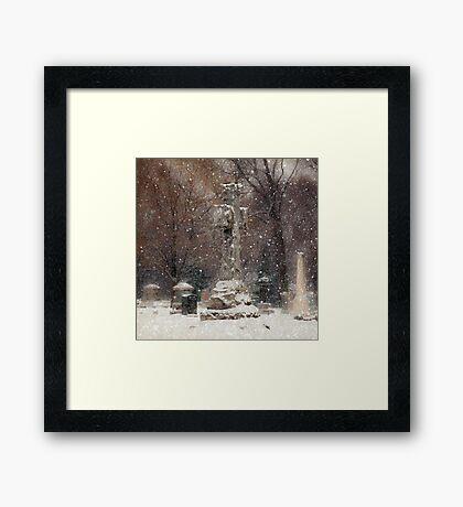 Snow is Falling Framed Print