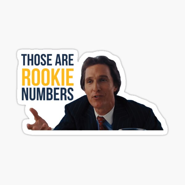 Wolf of Wall Street Rookie Numbers Sticker