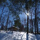 The Place of Peace, in a Peaceful Snowy Setting by Gordon Taylor
